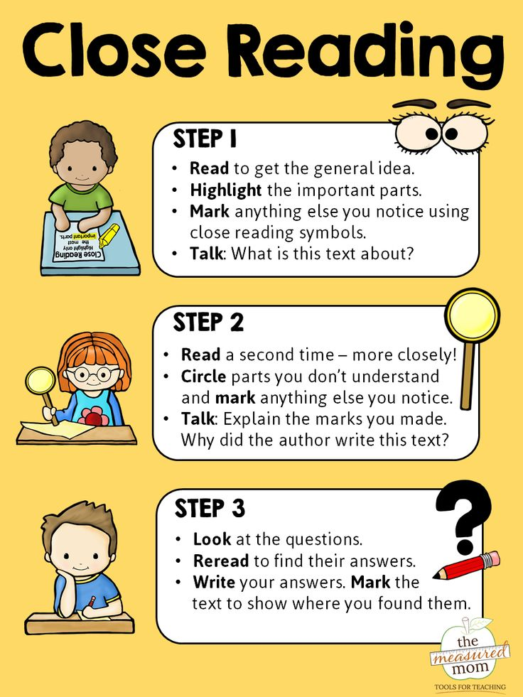 This free close reading anchor chart is so helpful! Print it in color or black and white.