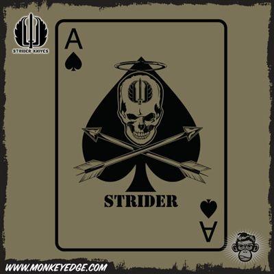 Strider Knives Ace of Spades Death Card tshirt