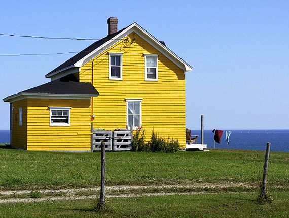 House on the Magdalene Islands in Quebec