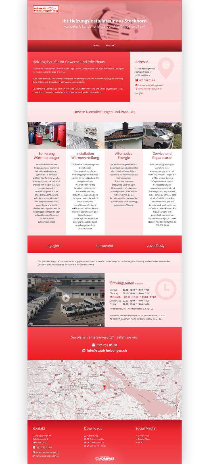 Staub Heizungen AG, Steckborn, Thurgau, Heizungsinstallateur, Sanierung Wärmeerzeuger, Installation Wärmeverteilung, Alternative Energie