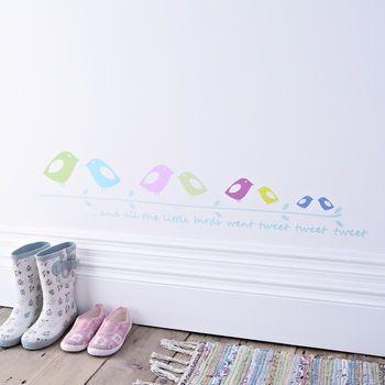 child's tweeting birds wall sticker by kidscapes | notonthehighstreet.com