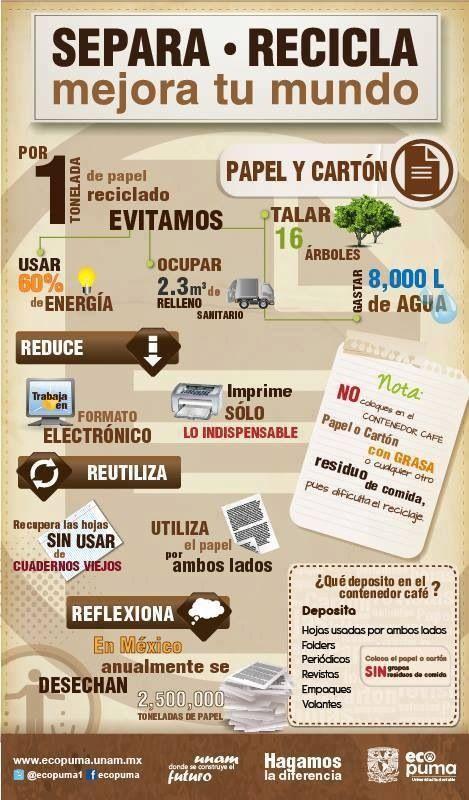 """Infografía de reciclaje de papel y cartón. [Contacto]: ► www.nestorcarrarasrl.wordpress.com Néstor P. Carrara S.R.L """"Desde 1980 satisfaciendo a nuestros clientes"""""""