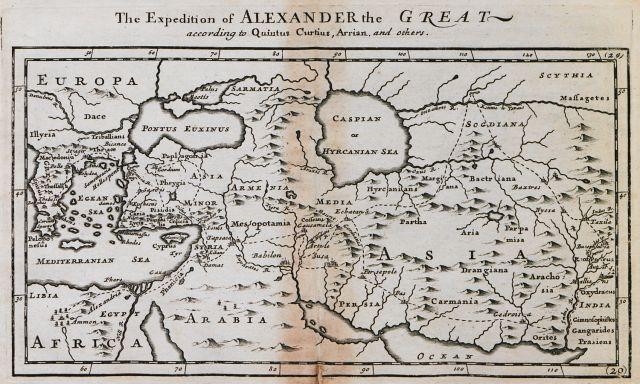 Χάρτης της εκστρατείας του Μεγάλου Αλεξάνδρου σύμφωνα με τις αρχαίες πηγές. - MOLL, Herman - ME TO BΛΕΜΜΑ ΤΩΝ ΠΕΡΙΗΓΗΤΩΝ - Τόποι - Μνημεία - Άνθρωποι - Νοτιοανατολική Ευρώπη - Ανατολική Μεσόγειος - Ελλάδα - Μικρά Ασία - Νότιος Ιταλία, 15ος - 20ός αιώνας