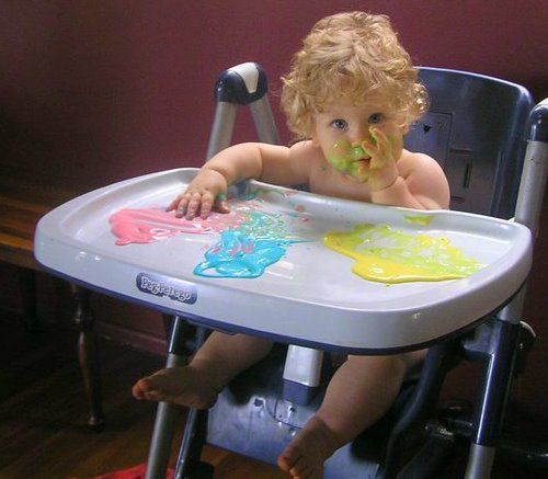 activities for toddlers yoghurt painting