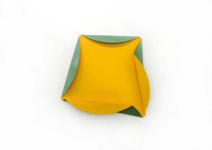 Beat Zoderer - QUADRATUR DES KREISES No. 4 - 2013 - Acrylic on aluminium, 110 x 110 x 16 cm