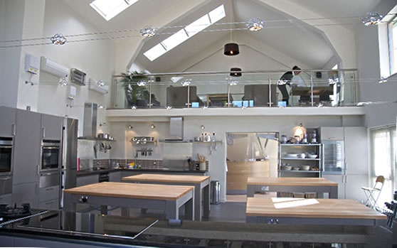 Interior view of the Foodworks Cookery School