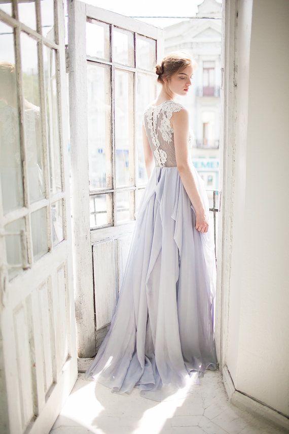 soft blue wedding dress