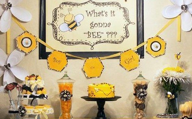 BabyZone: 15 Fun Ideas For Throwing A Gender Reveal Party | Gender Reveal Party Bee Theme