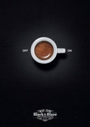 Deceptively Empowered Coffee Ads – This Coffee Campaign Illustrates Home Appliance Symbols