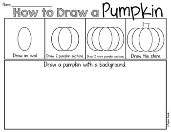 Pumpkin Draw and Write Freebie