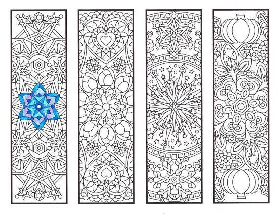 Coloring Bookmarks Cool Weather Mandalas By CandyHippie