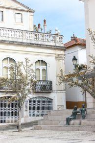 A quiet square in Abrantes, Portugal