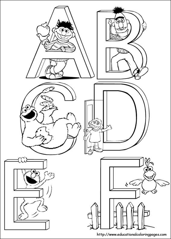 sesame street letter d coloring pages | 66 best images about sesame street on Pinterest | Coloring ...