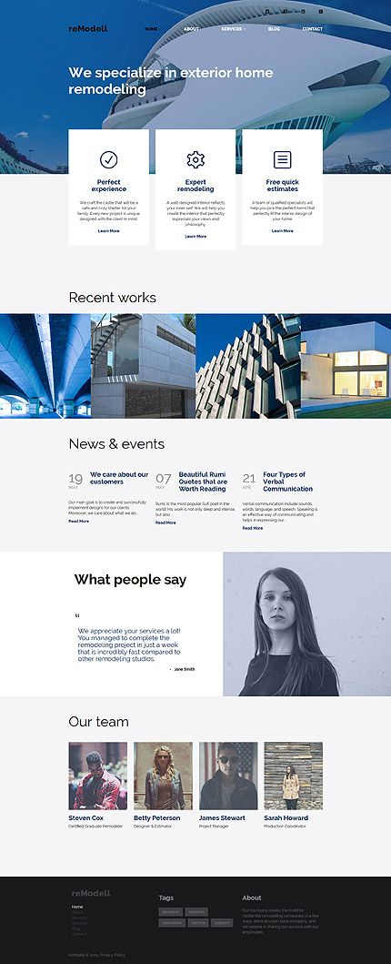 Architect #WordPressTheme wordpress website template