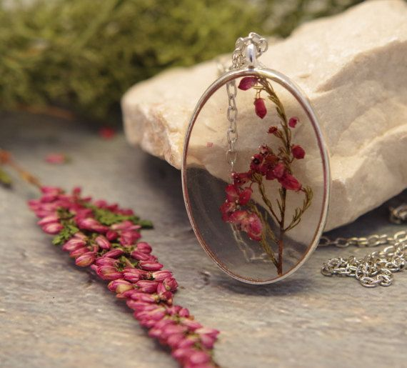 Real Flower Necklace Flower Resin Pendant Pressed Flower Necklace Dried Flower Pendant Flower Jewelry Natural Plan Mothers Day Gift For Mom Pressed Flower Necklace Flower Jewellery Resin Pendant