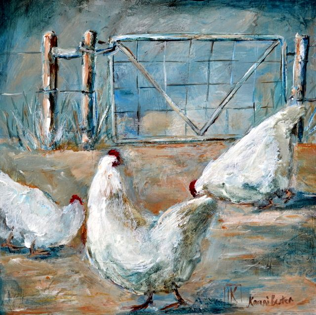Farm life Original painting by Kareni