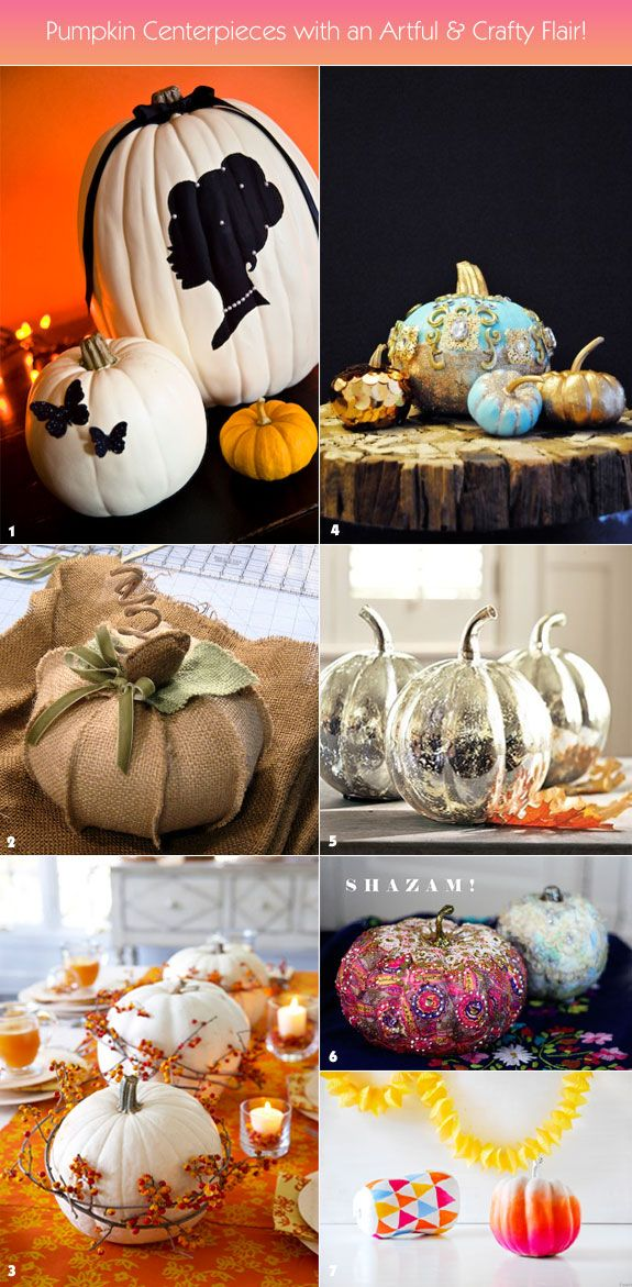 Creative pumpkin centerpieces with an artful spin