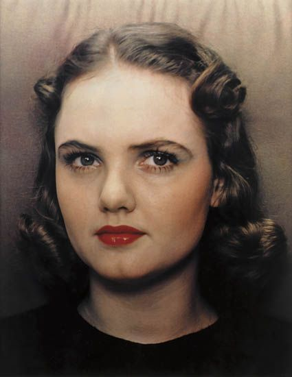 Portrait of a Woman - Paul Outerbridge Jr., about 1939. He was a pioneer of color photography.