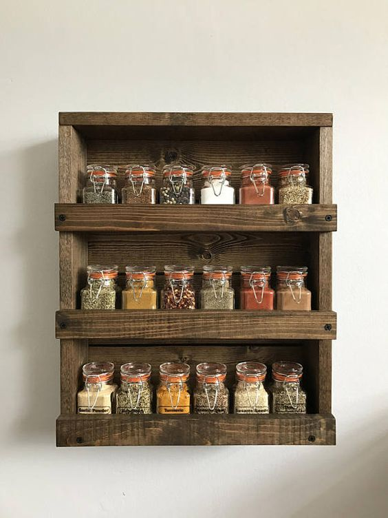 25 best ideas about wall mounted spice rack on pinterest kitchen spice rack diy spice racks - Wall mounted spice racks for kitchen ...