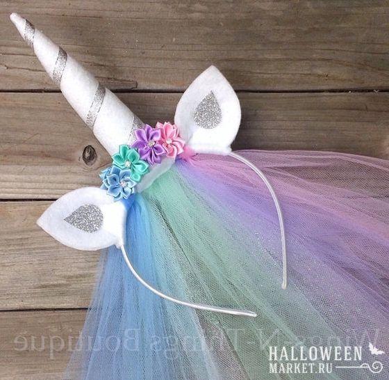 #unicorn #costume #halloweenmarket #halloween  #единорог #костюм #макияж #образ Радужный костюм единорога для девушек (фото)