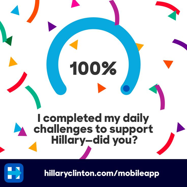 I completed my daily challenges to support Hillary - did you?
