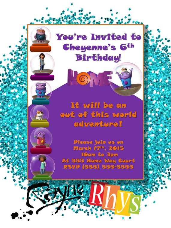 16 best dreamworks home movie invitations images on pinterest home 2015 dreamworks oh invitation printable by raynerhysdesigns frozen birthday party5th stopboris Gallery