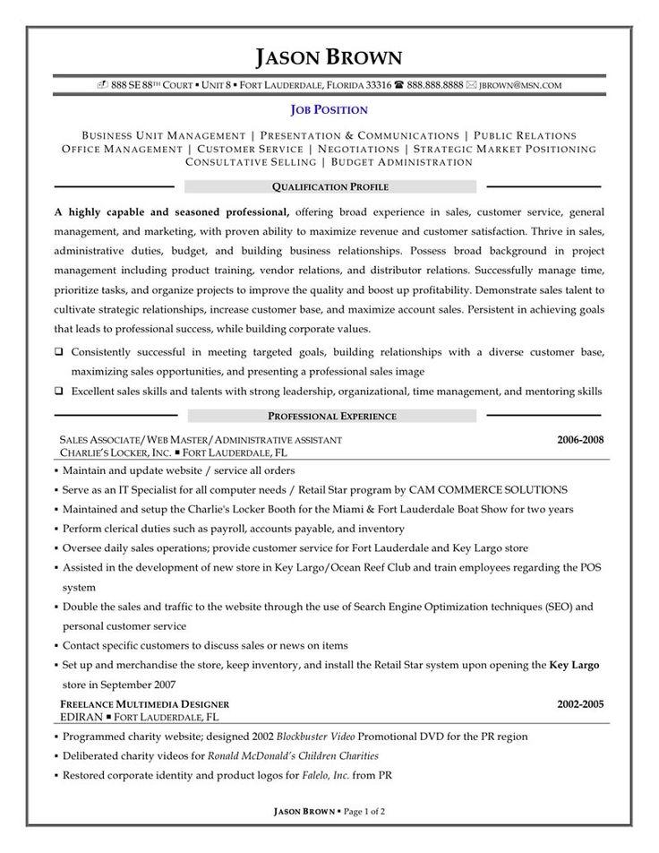 sales resume retail examples associate skills sample resumes letter