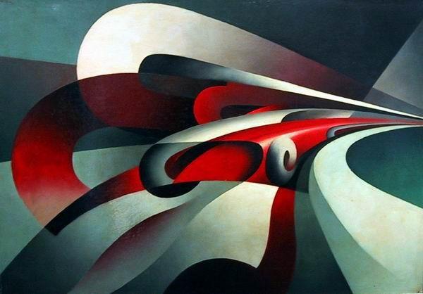 Tullio Crali, The Strength of the Curve, 1930