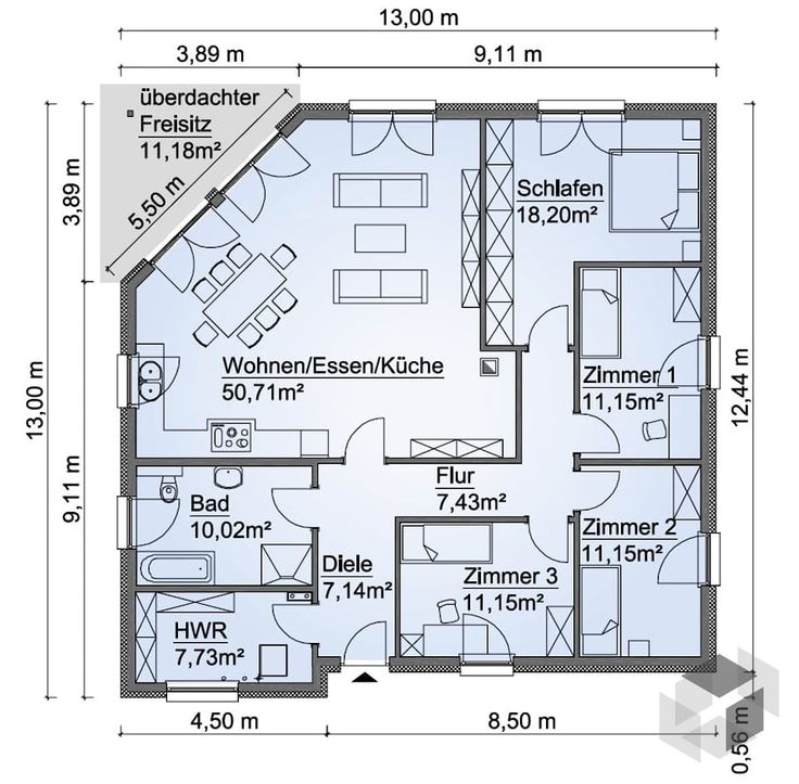 die besten 25 grundriss bungalow ideen auf pinterest haus bungalow haus ideen und h user. Black Bedroom Furniture Sets. Home Design Ideas