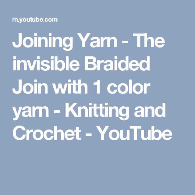 youtube how to join yarn in the round