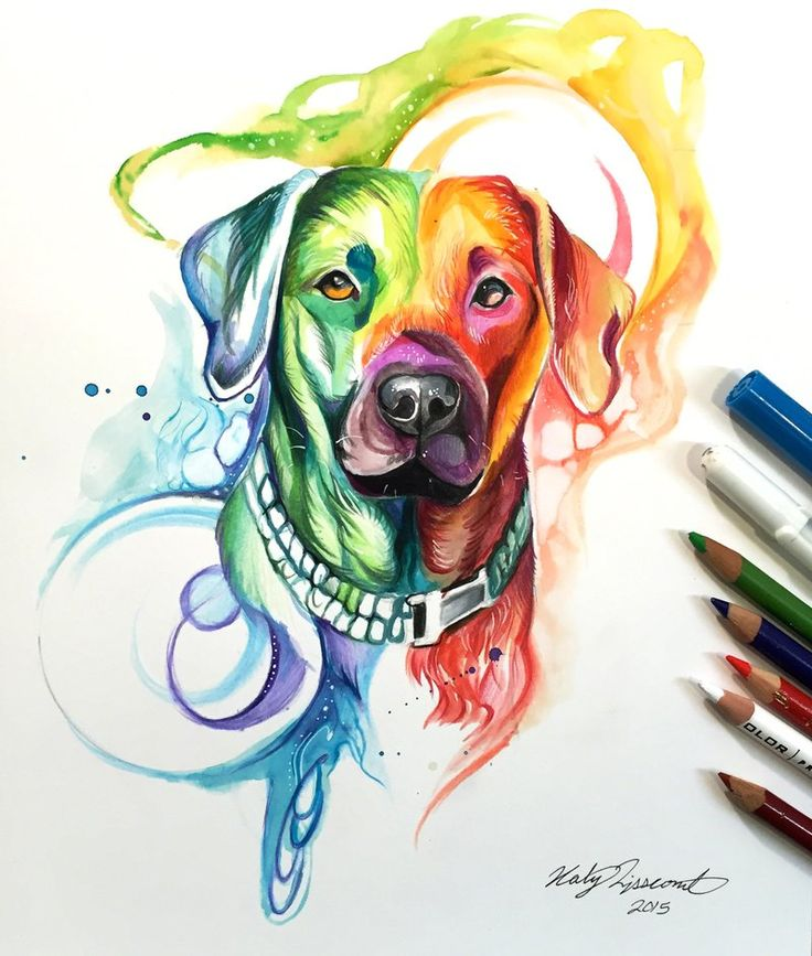 http://UpCycle.Club Rainbow Dog by Lucky978 on @DeviantArt #UpCycleART #HistoryProject @upcycleclub