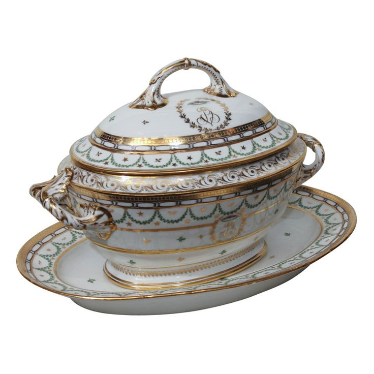 An 18th Century French Porcelain Soup Tureen   From a unique collection of antique and modern tureens at https://www.1stdibs.com/furniture/dining-entertaining/tureens/