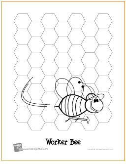Worker Bee   Free Coloring Page - http://makingartfun.com/htm/f-maf-printit/worker-bee-coloring-page.htm