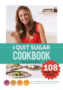 The I Quit Sugar eCookbook is the follow-up to I Quit Sugar 8-Week Program. It doesn't muck about: it features more than 108 desserts, cakes, snacks, kids' treats and detox recipes, plus a bunch of other tricks and tips and links. It will help you shop for ingredients, convert quantities and get extra detox and background information…in a click!