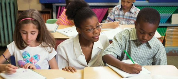 US Dept of Education website: What Works Clearinghouse. This site sifts through research studies to find effective interventions for k-12 in all areas.