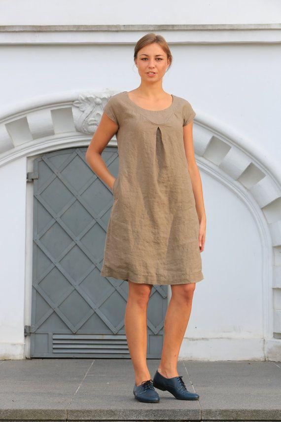 ba462d154e3 Linen dress. Linen tunic dress   summer dress by OldWallLinen ...