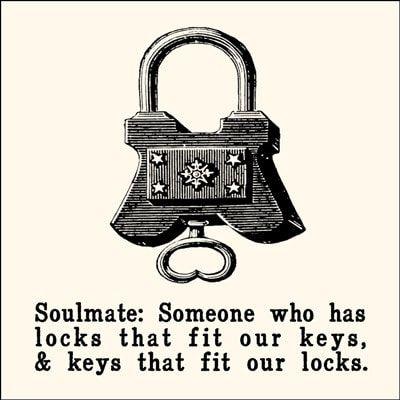 Sugarboo Designs Soulmate: Locks and Keys Notecard