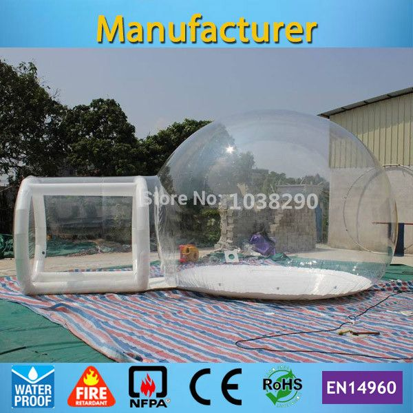 Cheap tent ball, Buy Quality bubble machine directly from China tent logo Suppliers:  NameBubble tentSize5*3mMaterialCommercial grade A 0.6mm PVC+PVC tarpaulinColorClearCertificationCE UL SGS EN14960 ROHSA