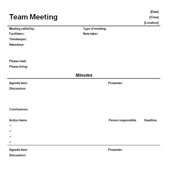 9 best Business documents images on Pinterest Sample resume - management meeting agenda template