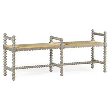 """Check out this item at One Kings Lane! Bellingham 60"""" Double Bench, Whitewash"""