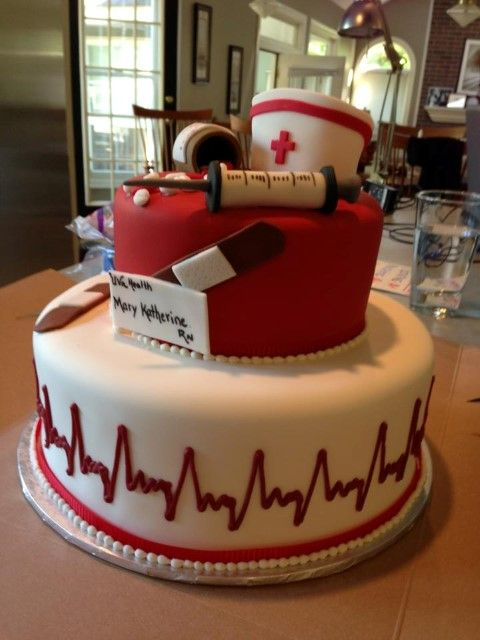Graduation Cake for Nursing Student; cvillecakes.com  I would die if my family got this for me! Would be amazing.
