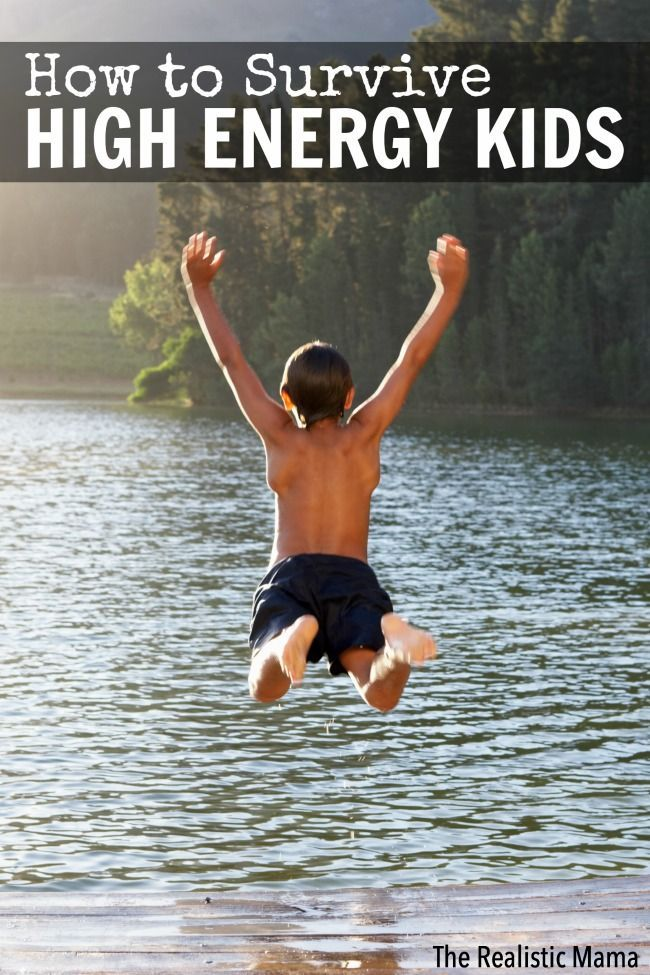 How to survive high energy kids - 5 tips that really help