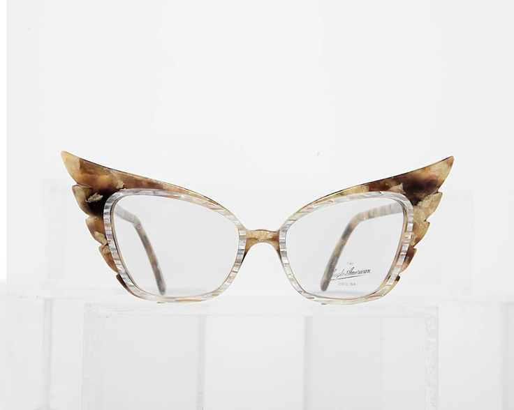 1980s oversized upswept frame with inlaid rims, from the historical collection of General Eyewear.