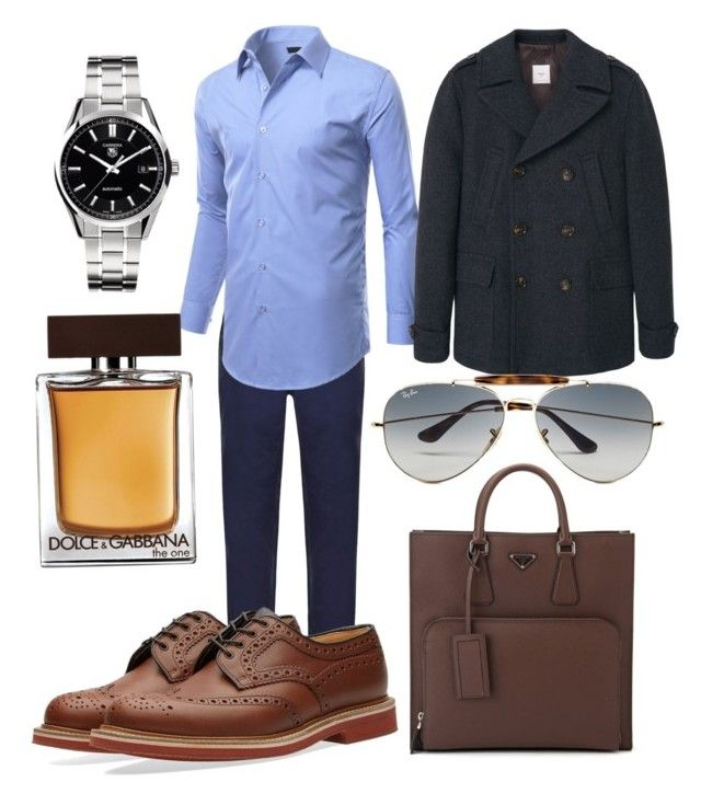 """Без названия #16"" by zuxrav on Polyvore featuring DKNY, Church's, MANGO MAN, Tag Heuer, Ray-Ban, Dolce&Gabbana, Prada, men's fashion и menswear"