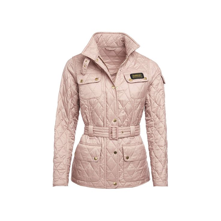 Barbour international lightweight quilted jacket pale