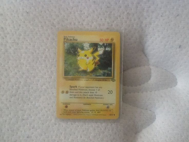 RARE PIKACHU CARD PROMO 60/64 IN MINT CONDITION #WizardsoftheCoast