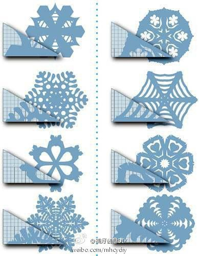 how to cut different paper snowflake