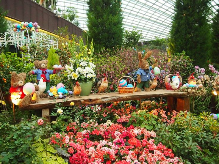 singaporespring celebrations at flower dome
