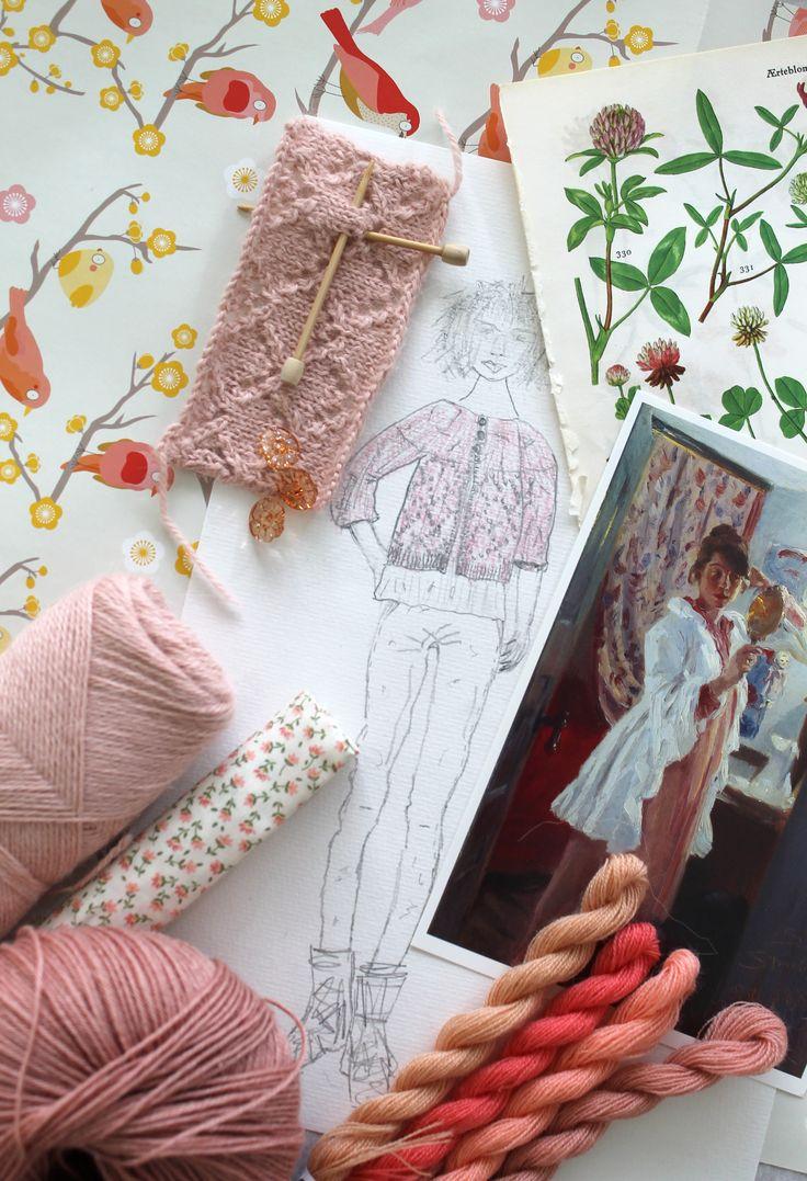 Kommende strikkeprojekt i alpaka til voksne August 2015 Inspiration board for new knitting design for adults by Garn-iture design www.garn-iture.dk