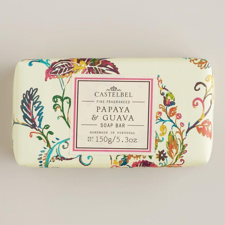 Castelbel Papaya & Guava Bar Soap | World Market